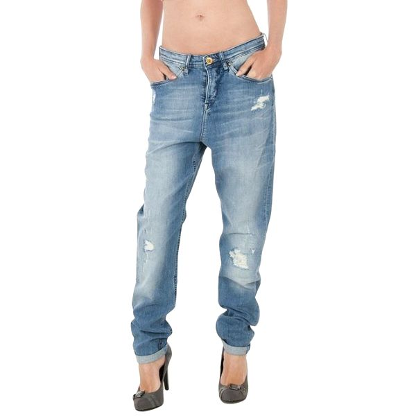 Dámské modré džíny Tommy Hilfiger s ozdobným páskem