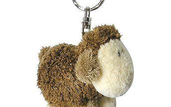 Klíčenka Sheepworld Klíčenka plyšová ovečka stojící hnědá, Sheepworld