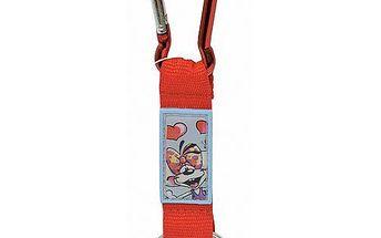 Diddl & Friends Strip mini s karabinkou Diddl a jeho přátelé -mini s karabinkou-červený, Diddlina