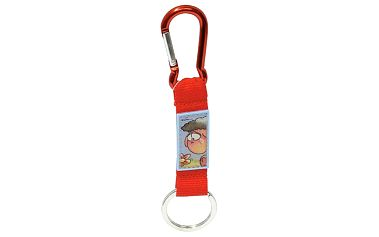 Diddl & Friends Strip mini s karabinkou Diddl a jeho přátelé -mini s karabinkou-červený, Wollywell