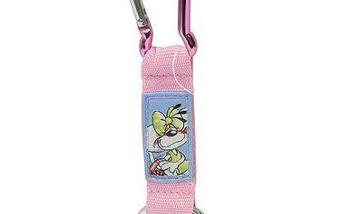 Diddl & Friends Strip mini s karabinkou Diddl a jeho přátelé -mini s karabinkou-růžový, Diddlina