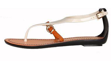 Dámské bílé páskové sandály Ana Lublin