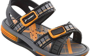 Dětské šedo-oranžové sandále Rider