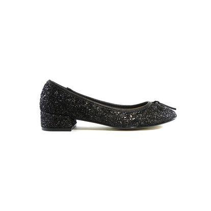 Dámské černé flitrové baleríny Shoes in the City