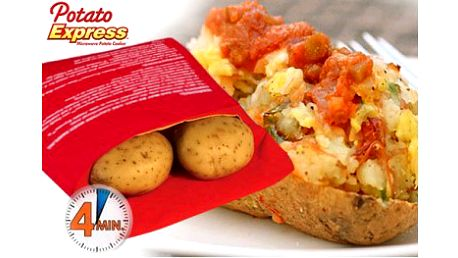 Sáček na vaření brambor je perfektním pomocníkem do každé kuchyně. Připravte si oblíbené brambory v mikrovlné troubě během pouhých čtyř minut! Doručení v ČR zdarma!
