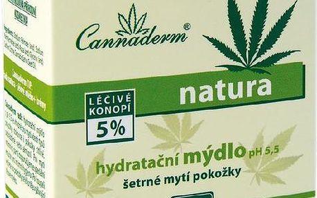 Cannaderm Natura mýdlo hydratační 100g Tuhé mýdlo W