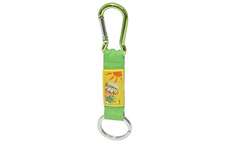 Diddl & Friends Strip mini s karabinkou Diddl a jeho přátelé -mini s karabinkou-zelený Vanillivi