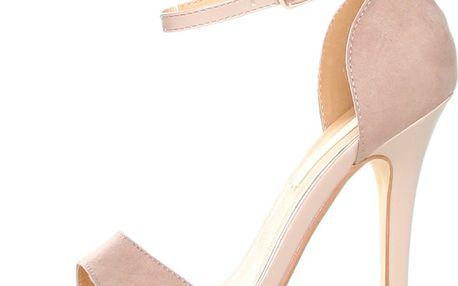 Béžové sandálky s jehlovým podpatkem Ana Lublin