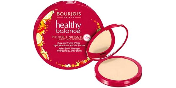 Bourjois Paris Healthy Balance Unifying Powder 9g Make-up W - Odstín 55 Dark Beige
