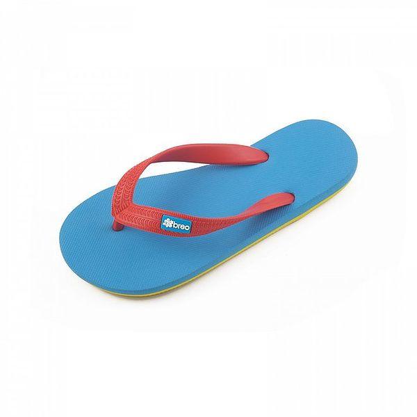 Modro-žluto-červené žabky Breo