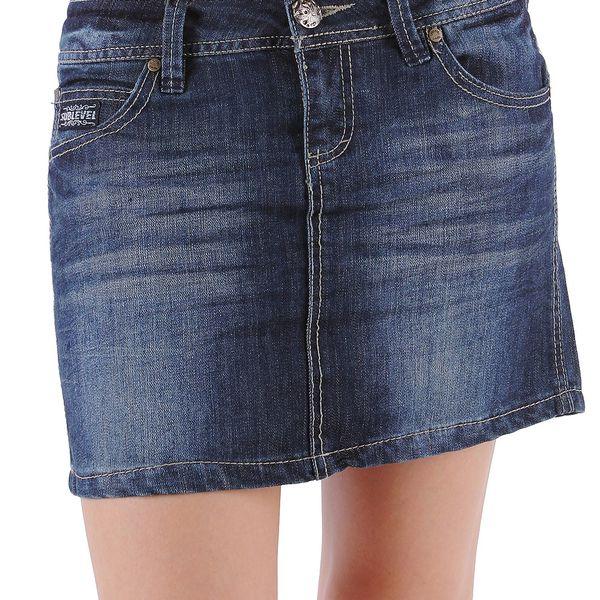 Dámská jeansová sukně v mini střihu od značky Sublevel