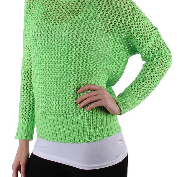 Dámský svetr značky Sublevel pro Vás máme v krásném neonově zeleném provedení