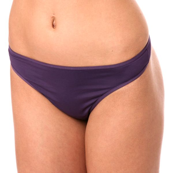 Dámské fialové tanga kalhotky Marlies Dekkers s kovovými plátky