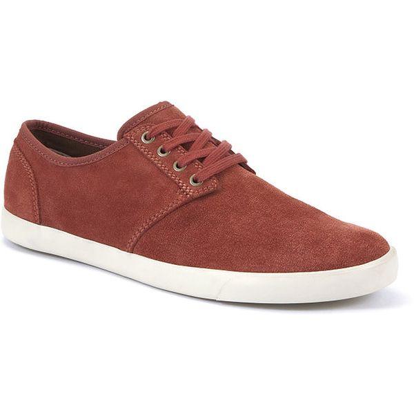 Pánské červené semišové boty Clarks