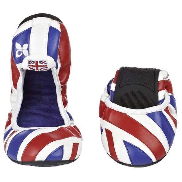 Dámské baleríny s britskou vlajkou Butterfly Twists