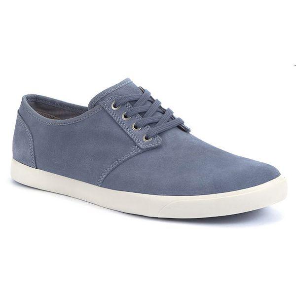 Pánské modré semišové boty Clarks