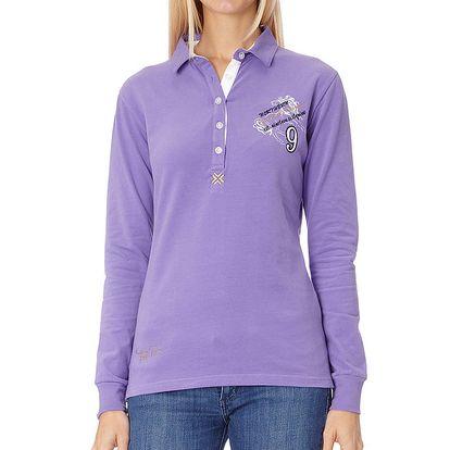 Dámské fialové polo tričko s dlouhým rukávem Northern Rebel