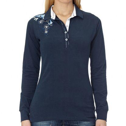 Dámské tmavě modré polo tričko s dlouhým rukávem Northern rebel