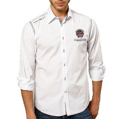 Pánská ležérně elegantní košile v bílé barvě Northern rebel