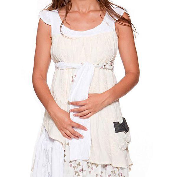Dámské krémovo-bílé šaty s vrstvenou sukní Ian Mosh
