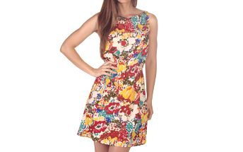 Dámské pestrobarevné květinové šaty Azura