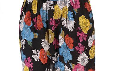 Dámská sukně s barevnými květy Azura
