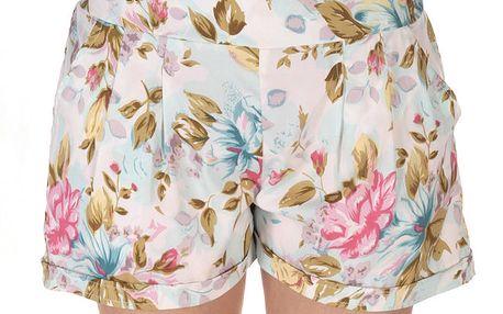 Dámské pastelové šortky s květinovým vzorem Azura