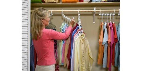 Úsporný věšák na oblečení - ušetří spoustu místa ve vaší skříni!