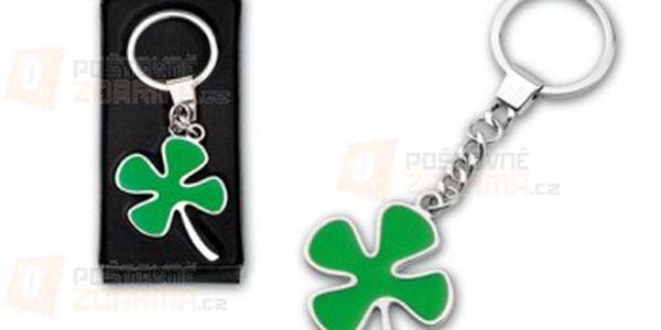 Přívěsek na klíče ve tvaru čtyřlístku a poštovné ZDARMA s dodáním do 3 dnů! - 18609951