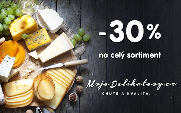 30% sleva na dobroty z MojeDelikatesy.cz