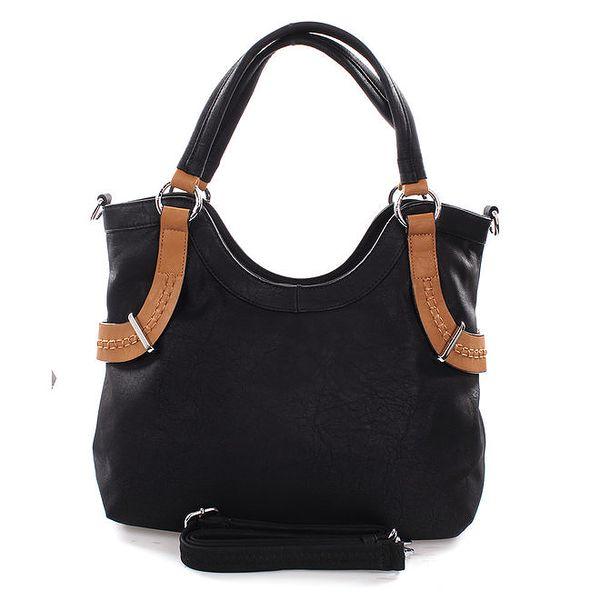 Dámská černá kabelka s hnědými detaily Castella & Beige