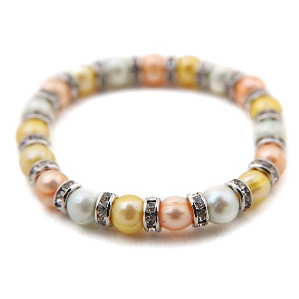 Dámský náramek z barevných perel Orchira