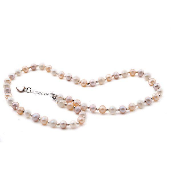 Dámský perlový náhrdelník se srdíčkem Orchira