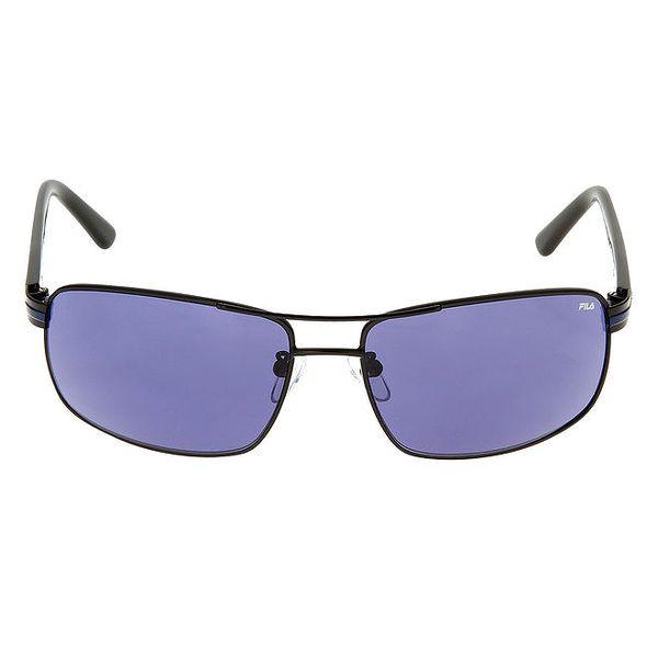 Pánské sluneční brýle s modrým proužkem na stranicích Fila