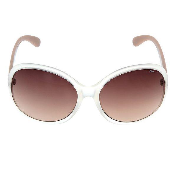 Dámské sluneční brýle s béžovými stranicemi Fila
