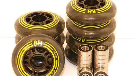 Kompletní sada inline koleček (8 ks) s kvalitními ložisky ABEC 9, vel. 72, 76 nebo 80 mm!