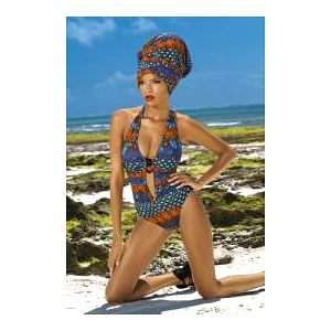 Extravagantní dámské jednodílné plavky pro náročné, model She Kayah Dream of Africa