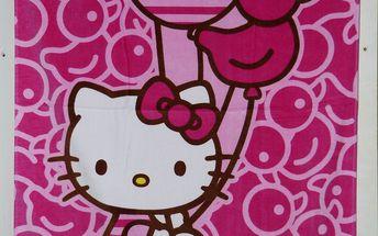 Setino - kvalitní plážová osuška Hello Kitty 70x140 cm