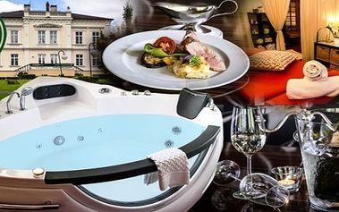 Romantický pobyt s privátní vířivkou, saunou, galavečeří a sektem pro 2 osoby
