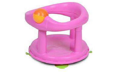 Safety - sedátko do vany otočné o 360 stupňů se 4 přísavkami - růžové New style 2013