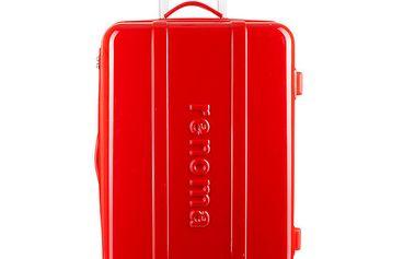 Větší červený cestovní kufr Renoma