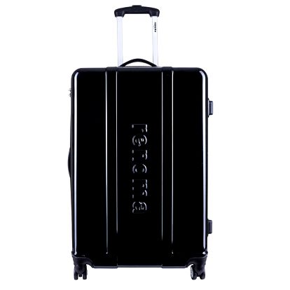 Větší černý cestovní kufr Renoma
