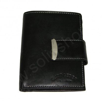 Pánská peněženka ROBERTO vysoká se sponou černá