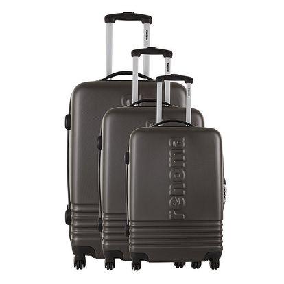 Sada tří šedých kufrů Renoma