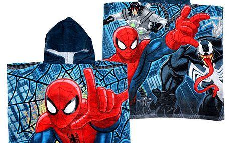 Setino - pončo, plážová osuška Spiderman 60 x 120 cm