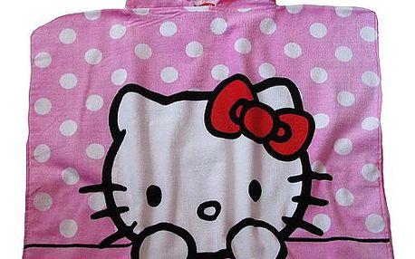 Setino - pončo, plážová osuška Hello Kitty 60 x 120 cm