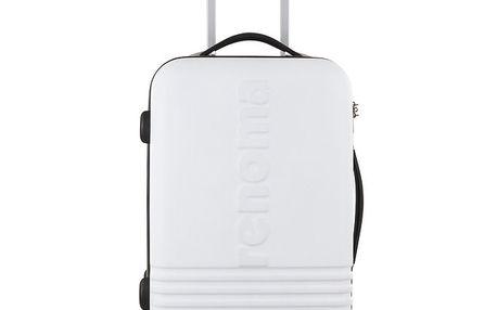 Větší bílý kufr Renoma