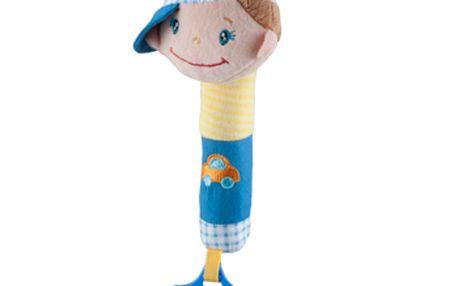 Baby Ono - pískátko do ruky kluk s čepicí a kousátkem