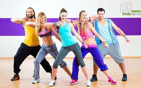3x 55 minut cvičení Zumby ve fitness centru Body Island v Praze