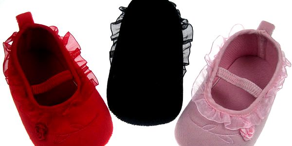 Kojenecké první botičky - capáčky Rosa červené - vel. 0-3 m